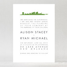 New Orleans Skyline---Wedding Invitation