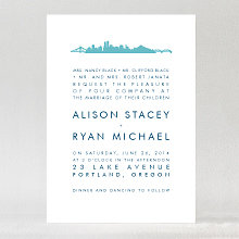 Portland Skyline---Wedding Invitation