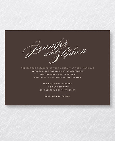 Symphony Wedding Invitation