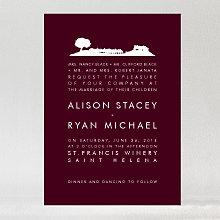 Wine Country Skyline: Wedding Invitation