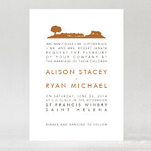 Wine Country Skyline - Wedding Invitation