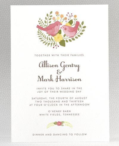 Flora and Fauna Wedding Invitation