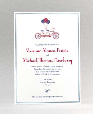 When To Send Out Wedding Invitations 63 Inspirational bicycle wedding invite