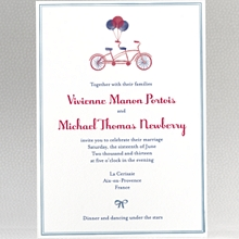 French Bicycle - Wedding Invitation