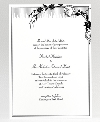 French Deco Wedding Invitation