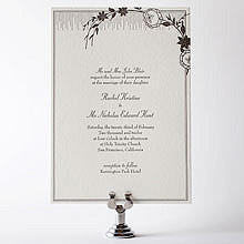 French Deco---Letterpress Wedding Invitation