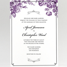 Gothic Rose---Wedding Invitation