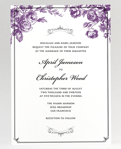Gothic Rose Wedding Invitation