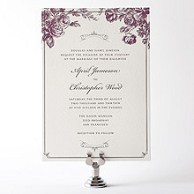 Gothic Rose---Letterpress Wedding Invitation