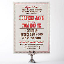 Heartland: Letterpress Wedding Invitation