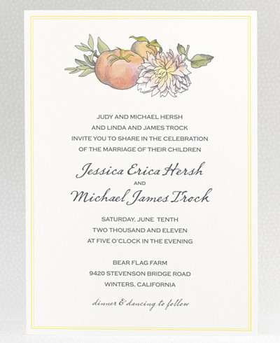 Heirloom Harvest Wedding Invitation