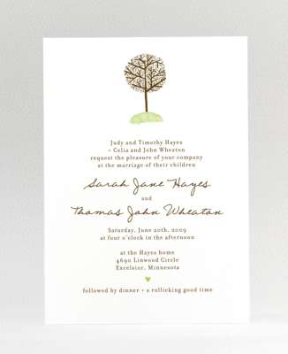 bare tree wedding invitations