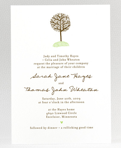 Home Sweet Home Wedding Invitation