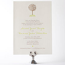 Home Sweet Home - Letterpress Wedding Invitation