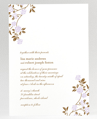 Honeysuckle Wedding Invitation