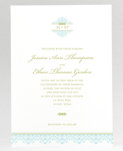 Ironwork Wedding Invitation