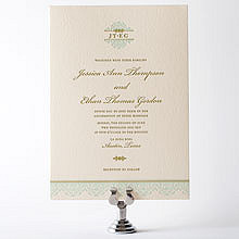 Ironwork: Letterpress Wedding Invitation