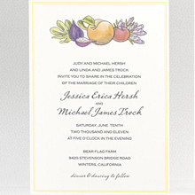 Lavender Harvest: Wedding Invitation