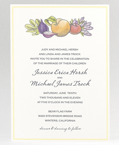 Lavender Harvest Wedding Invitation