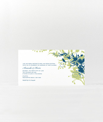 L'Oiseau--- Wedding Invitation