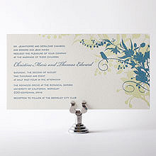 L'Oiseau - Letterpress Wedding Invitation