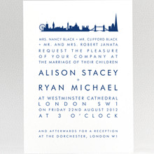 London Skyline: Wedding Invitation