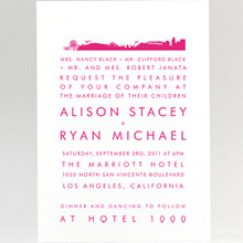 Los Angeles Skyline: Wedding Invitation
