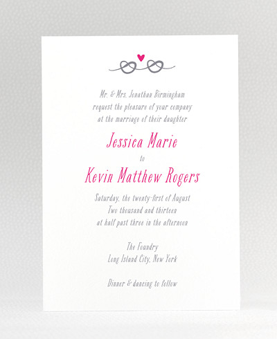 Love Knot Wedding Invitation