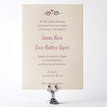 Love Knot---Letterpress Wedding Invitation
