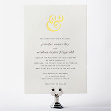 Ampersand: Letterpress Wedding Invitation