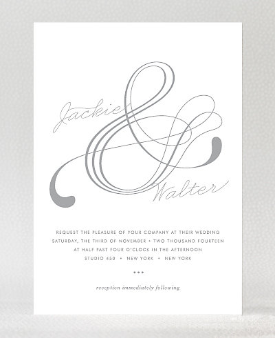 Atlantic Foil/Letterpress Wedding Invitation