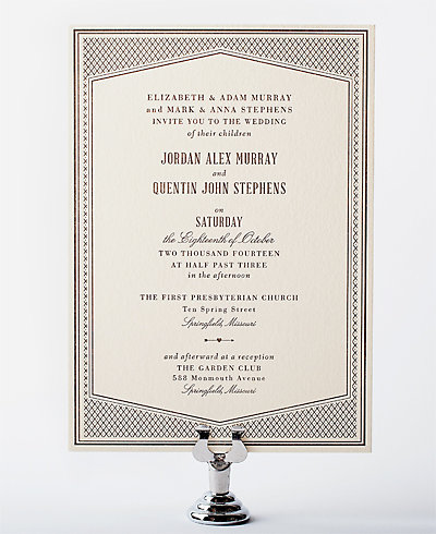 Havana Letterpress Wedding Invitation