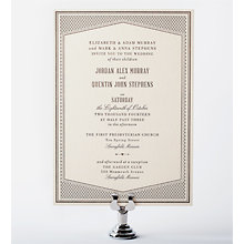 Havana: Letterpress Wedding Invitation