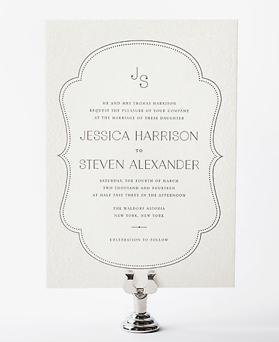 Morris Letterpress Wedding Invitation