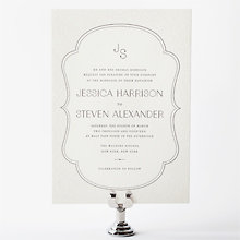 Morris: Letterpress Wedding Invitation