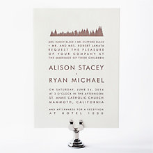 Mountain Skyline - Letterpress Wedding Invitation