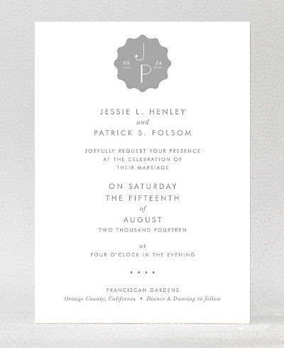 Pop Deco Foil/Letterpress Wedding Invitation