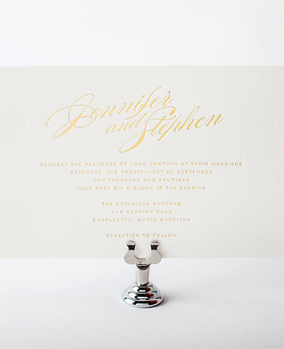 Symphony Foil Wedding Invitation