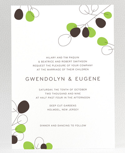 Lunaria Wedding Invitation