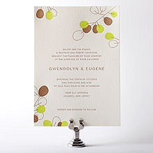 Lunaria: Letterpress Wedding Invitation