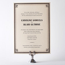 Marquee: Letterpress Wedding Invitation