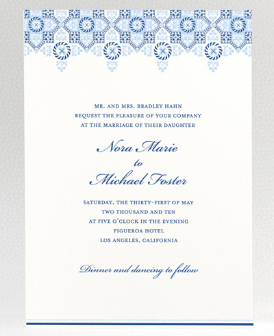 Marrakesh Wedding Invitation