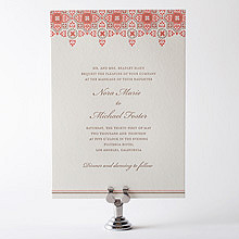 Marrakesh: Letterpress Wedding Invitation