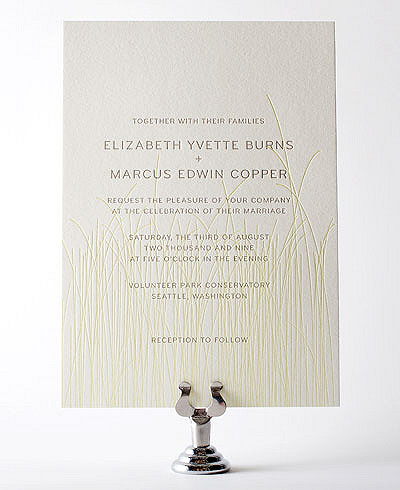 Meadow Letterpress Wedding Invitation