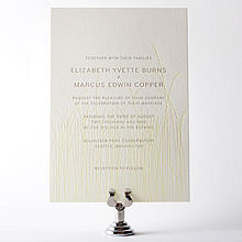 Meadow: Letterpress Wedding Invitation