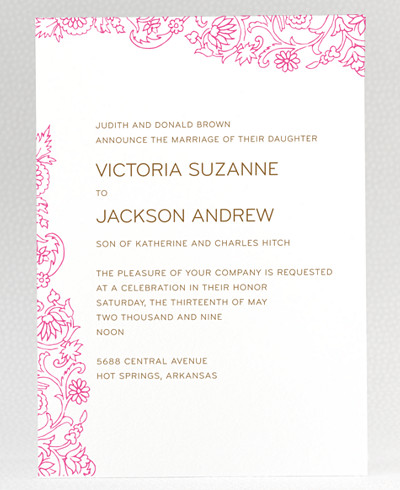 Medjool Wedding Invitation