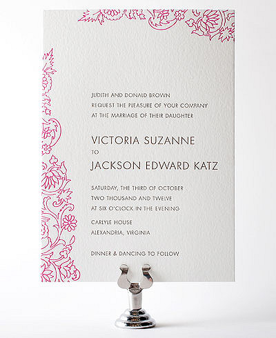 Medjool Letterpress Wedding Invitation