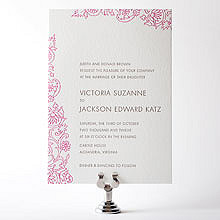 Medjool: Letterpress Wedding Invitation