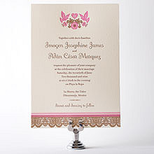 Mi Amor---Letterpress Wedding Invitation