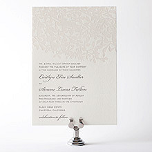 Midsummer: Letterpress Wedding Invitation